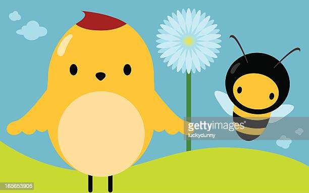bird & bee - bumblebee stock illustrations, clip art, cartoons, & icons