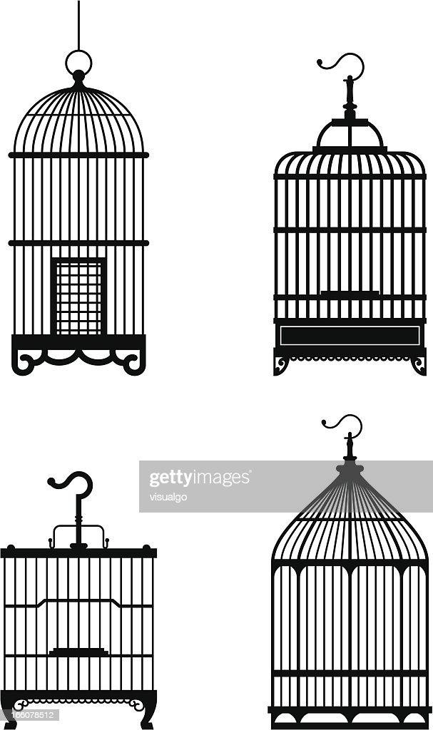 bird cage : stock illustration
