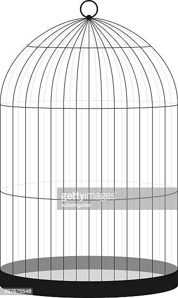 bird cage - cage stock illustrations, clip art, cartoons, & icons