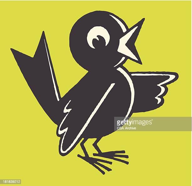 ilustrações de stock, clip art, desenhos animados e ícones de pássaro chirping - canto de passarinho