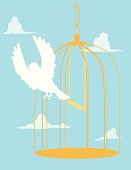 Bird Flying Out of Cage