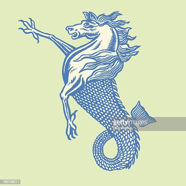 bird, horse and fish hybrid - genetic modification stock illustrations, clip art, cartoons, & icons