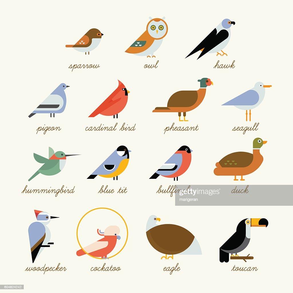 Bird icon collection