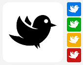 Bird Icon Flat Graphic Design