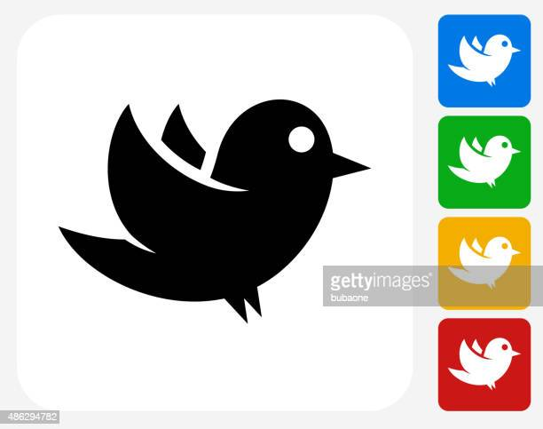 bird icon flat graphic design - online messaging stock illustrations