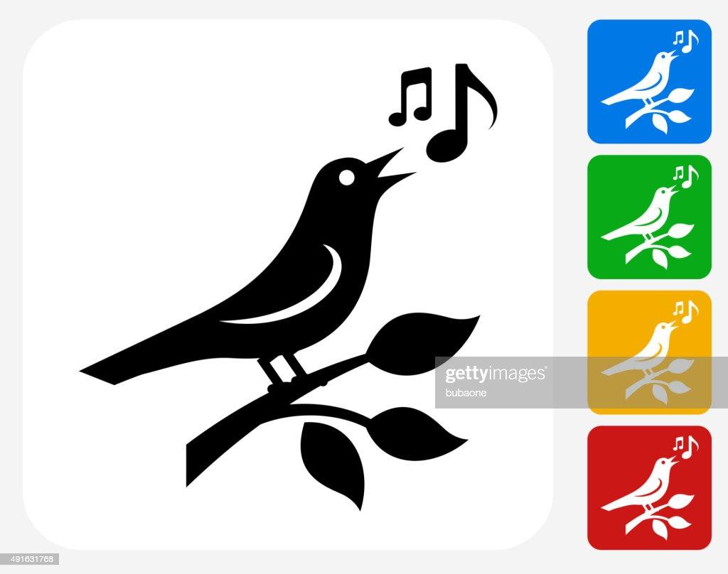 Bird Icon Flat Graphic Design