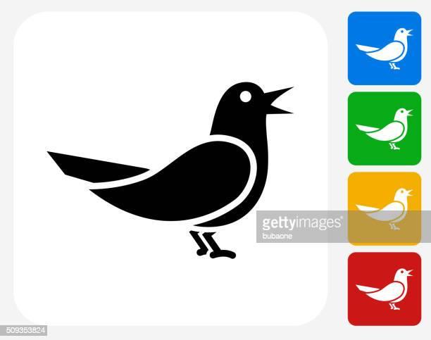 bird icon flat graphic design - animal limb stock illustrations, clip art, cartoons, & icons