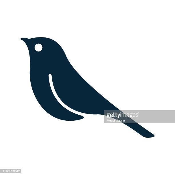 bird icon - falcon bird stock illustrations, clip art, cartoons, & icons