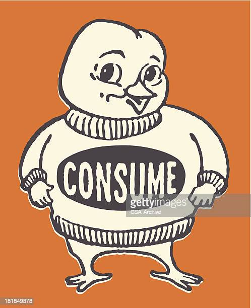 bird in consume sweater - sweater stock illustrations, clip art, cartoons, & icons