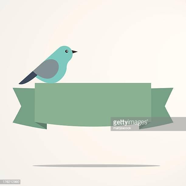 Bird on a banner
