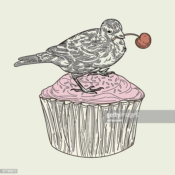 Bird on a Cupcake