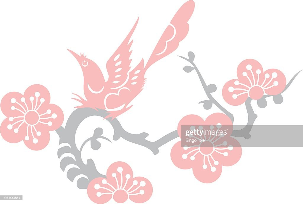 Bird & Plum Blossom (Vector)