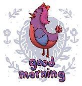Bird speaking Good morning
