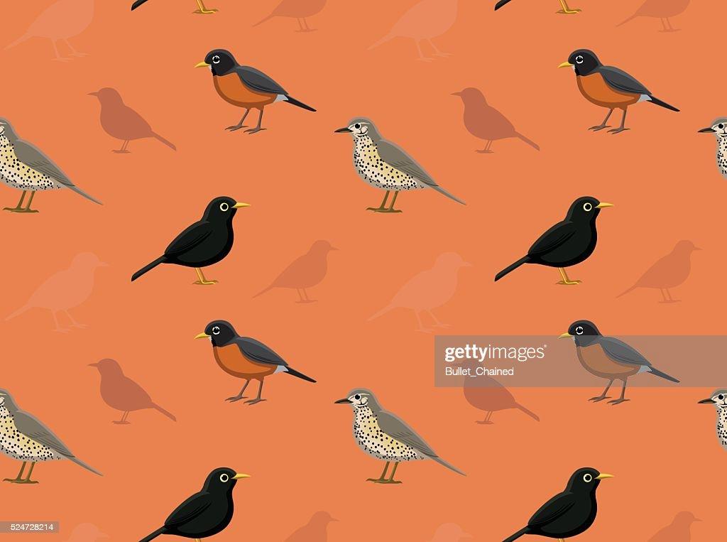 Bird True Thrush Wallpaper