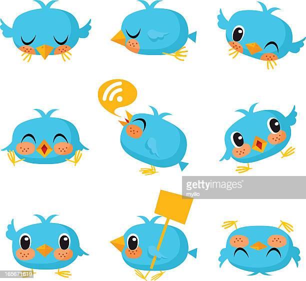 Bird, tweet, bluebird, feed, social media, text, follow, cartoon