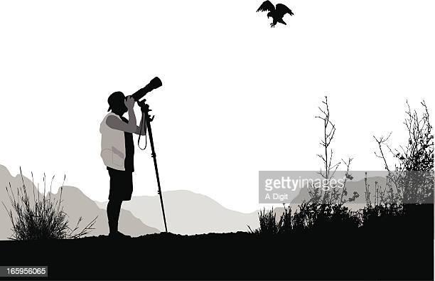 Bird Watchers Vector Silhouette
