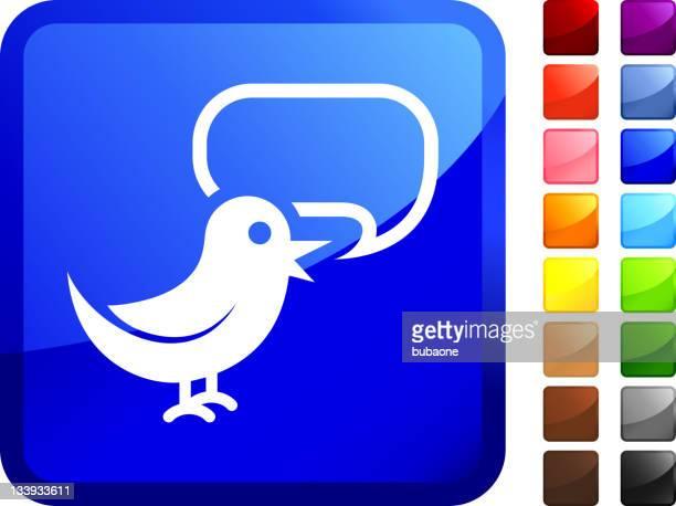 bird with dialogue balloon internet royalty free vector art