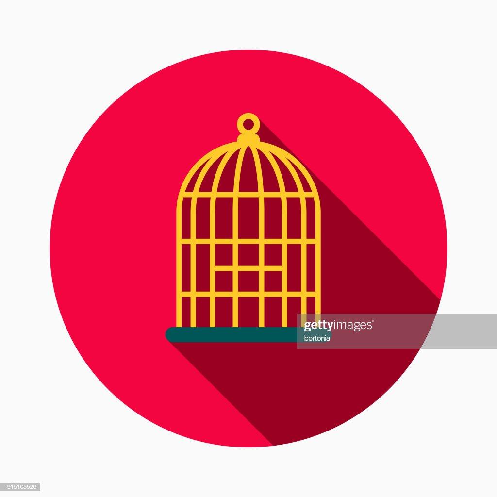 Birdcage Flat Design Pet Care Icon : stock illustration