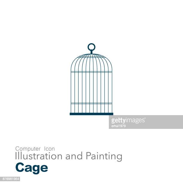 illustrations, cliparts, dessins animés et icônes de cage à oiseaux - confinement clip art