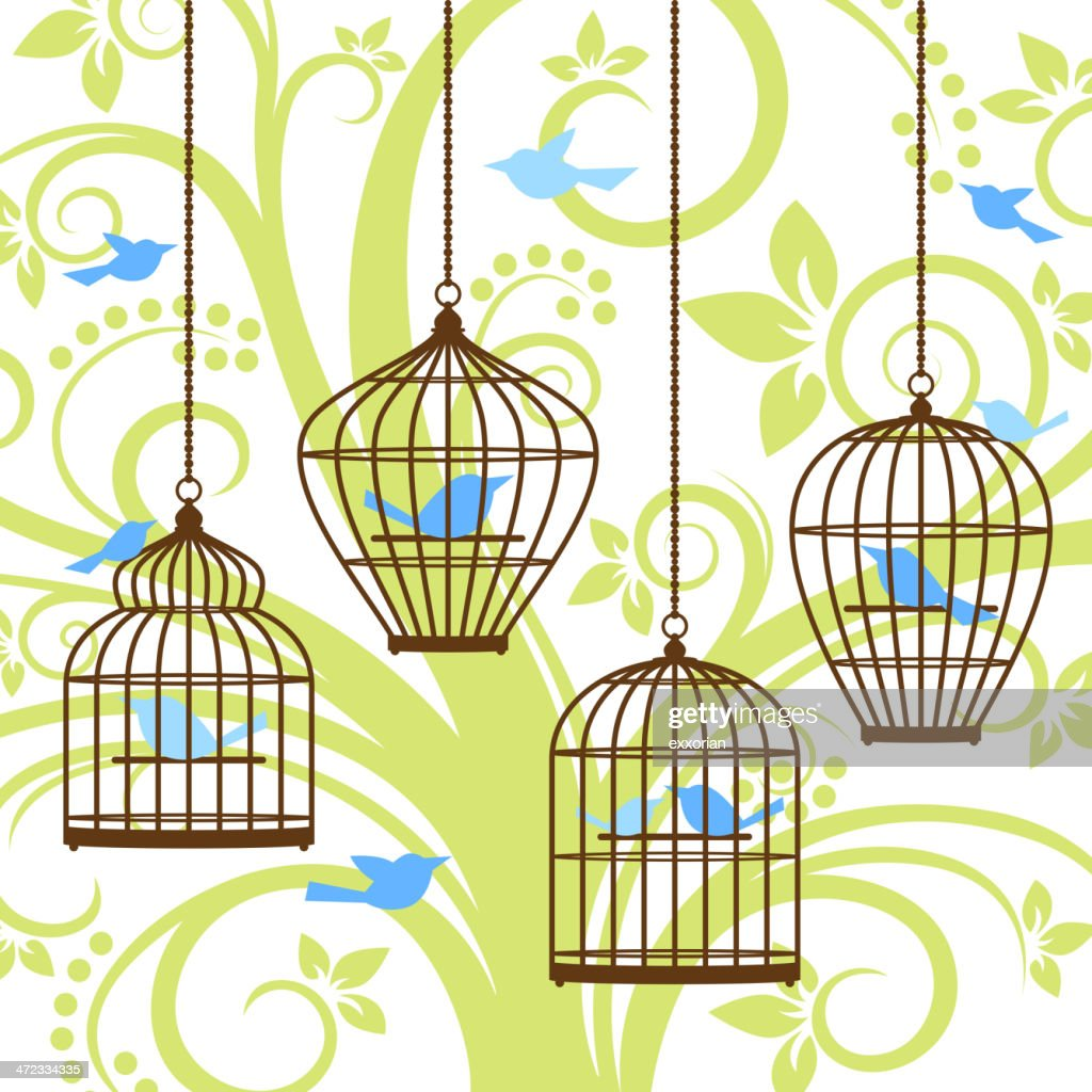 Amazing Bird Cage Wall Decor Contemporary - The Wall Art ...