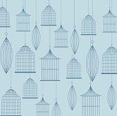 Birdcages icon. Decoration object. vintage concept, vector graph