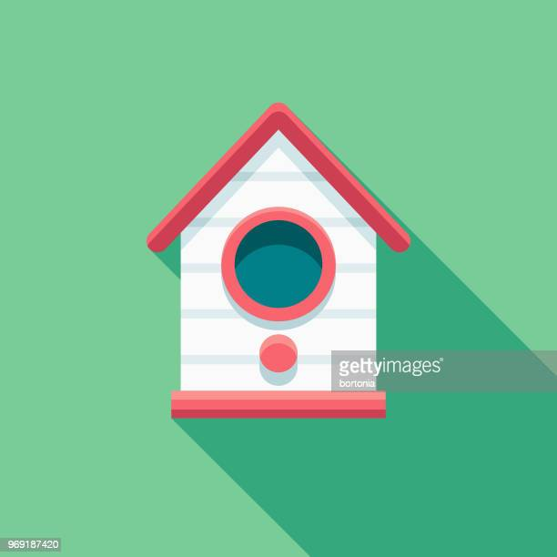 Birdhouse Flat Design Springtime Icon
