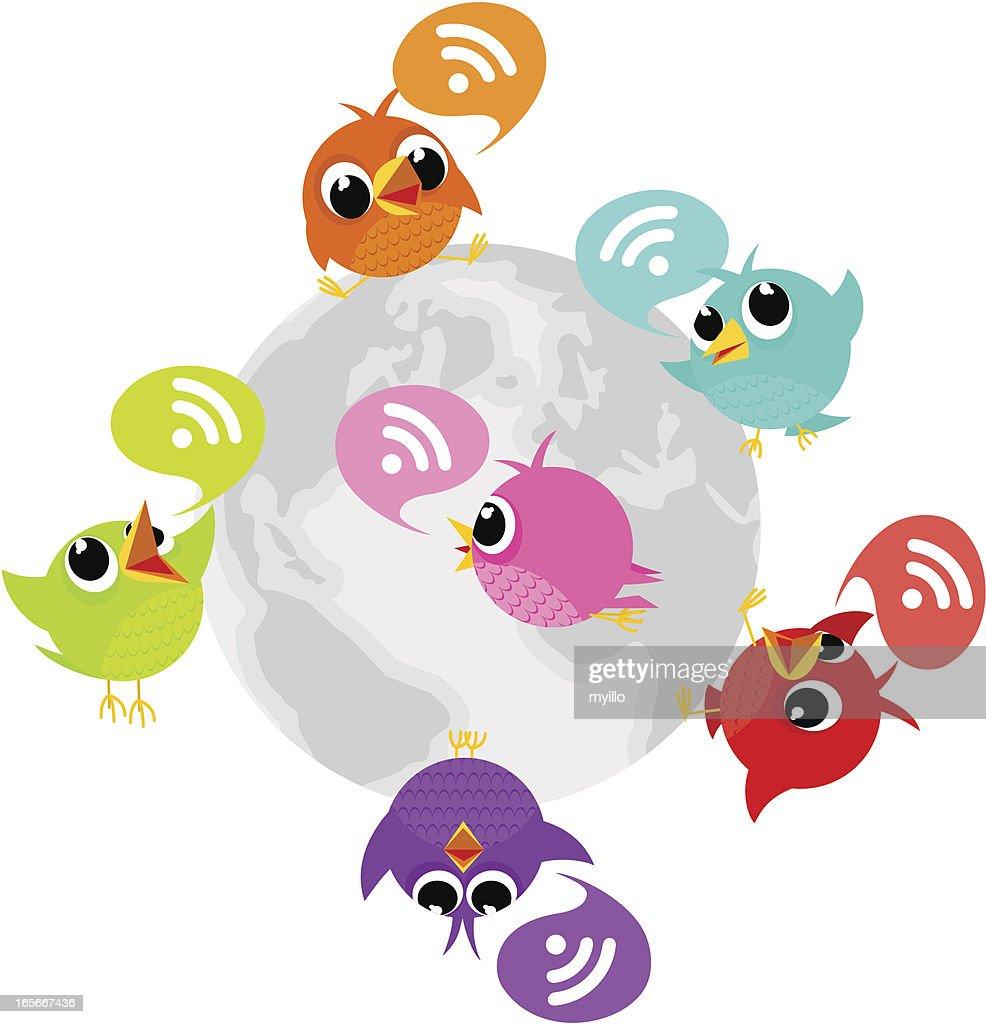 Birdie, tweet, bluebird, feed, social media, text, follow