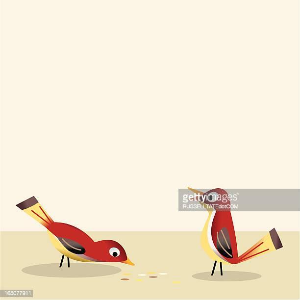 鳥食べるガス入り飲料水