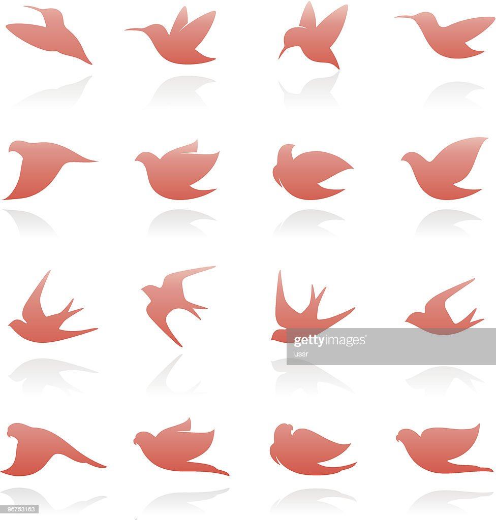 Birds. Elements for design.