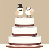 Birds Love Wedding Cake