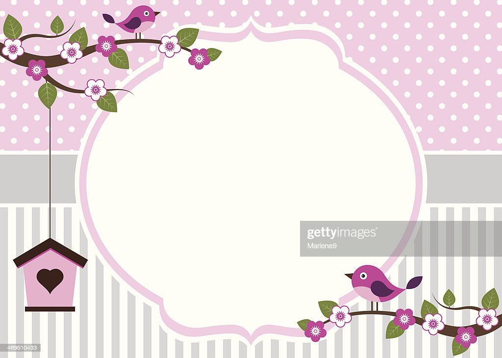 Birds On Branches Invitation Template ...