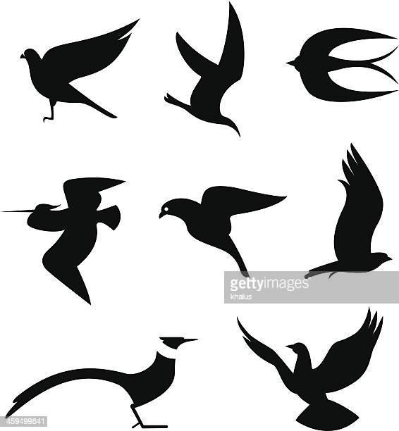 鳥のセット - 水鳥点のイラスト素材/クリップアート素材/マンガ素材/アイコン素材