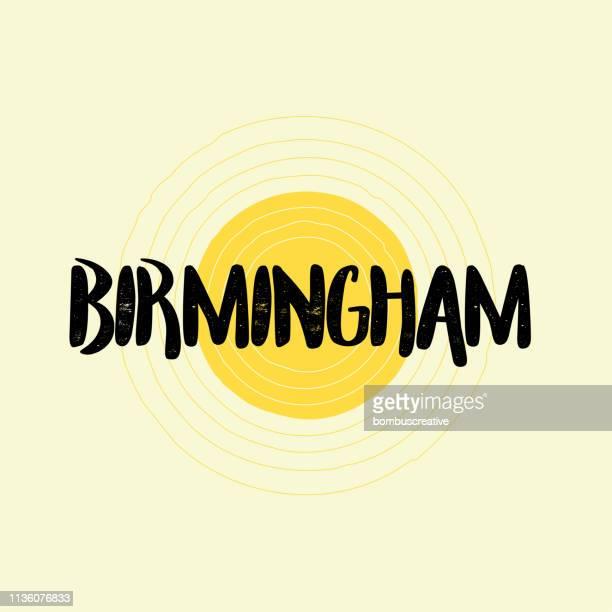 ilustrações, clipart, desenhos animados e ícones de birmingham lettering design - birmingham alabama