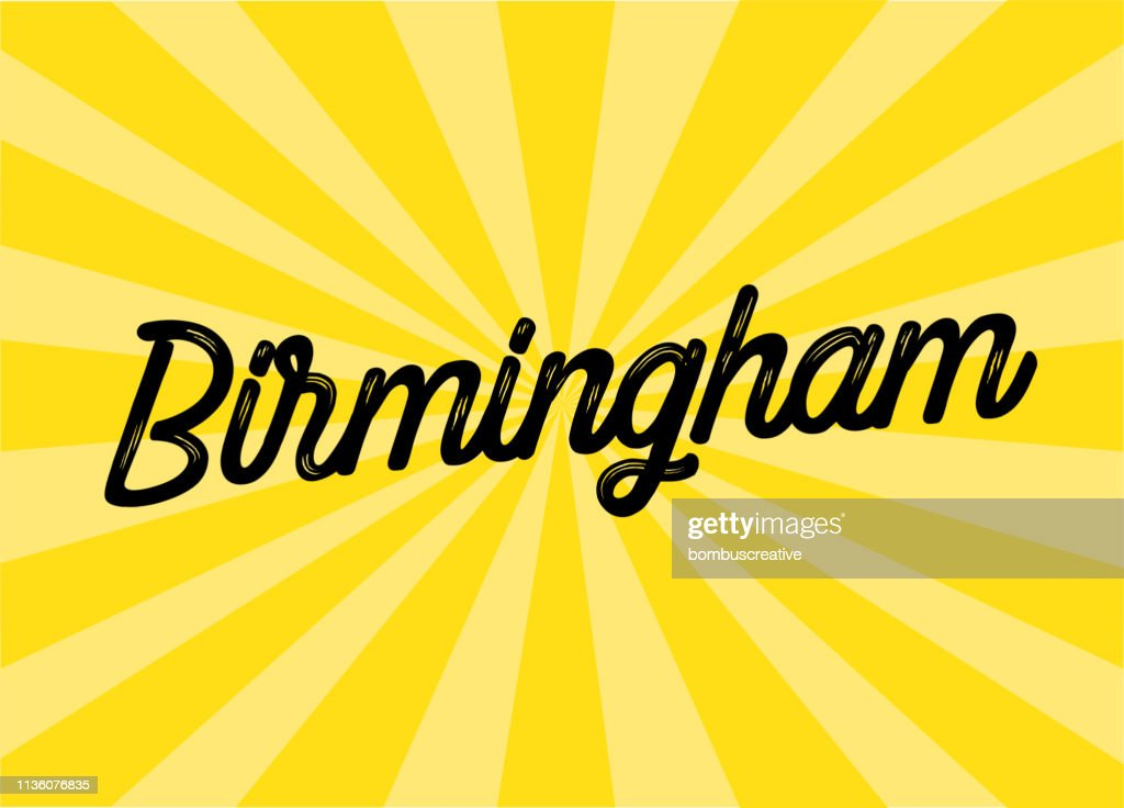 Birmingham Lettering Design : stock illustration