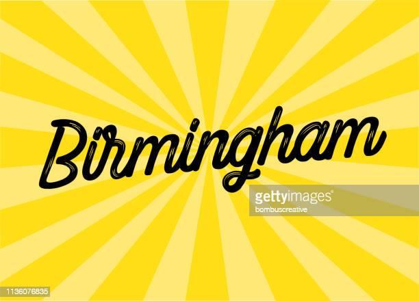 birmingham lettering design - birmingham alabama stock illustrations, clip art, cartoons, & icons