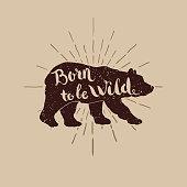 birn wild illustration for t-short