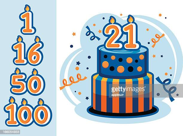birth or anniversary cake - birthday cake stock illustrations, clip art, cartoons, & icons