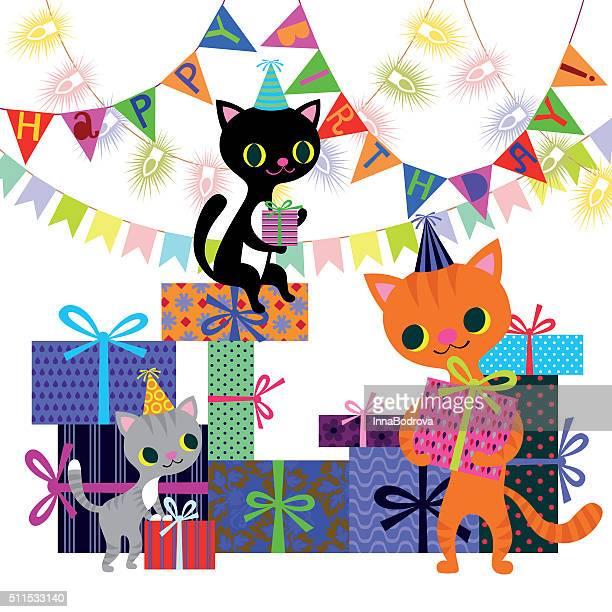 誕生日と猫は、ボックスの
