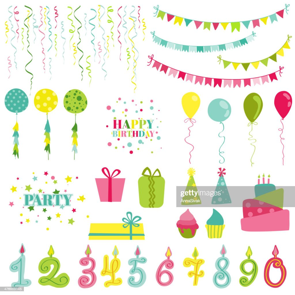 Birthday and Party Set - for photobooth, scrapbook, design