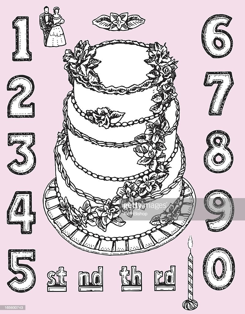 Birthday Anniversary Or Wedding Cake High Res Vector Graphic Getty Images
