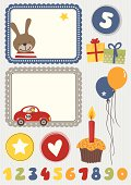 Birthday boy design elements