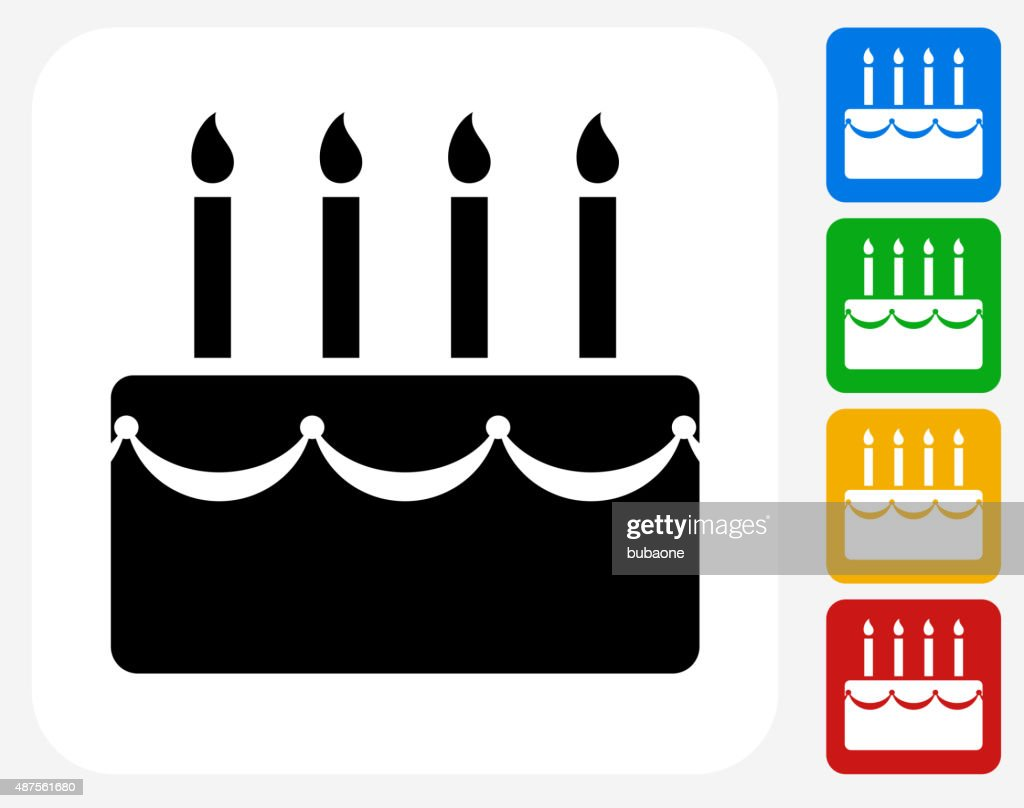 Birthday cake icon flat graphic design vector art getty images birthday cake icon flat graphic design vector art buycottarizona