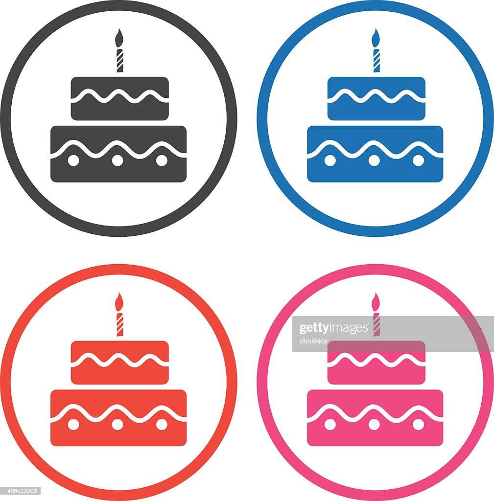 Birthday Cake Icons Vector Art Getty Images