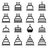 Birthday Cake Icons