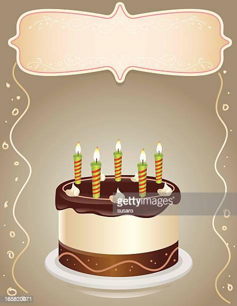 birthday cake illustration - icing stock illustrations, clip art, cartoons, & icons
