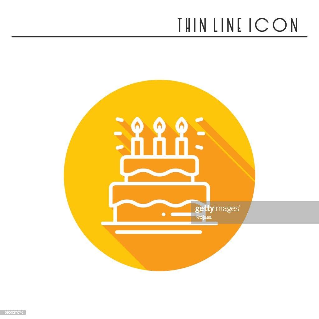 Geburtstagstorte Kuchen Mit Kerzensymbol Herzlichen Gluckwunsch Zum