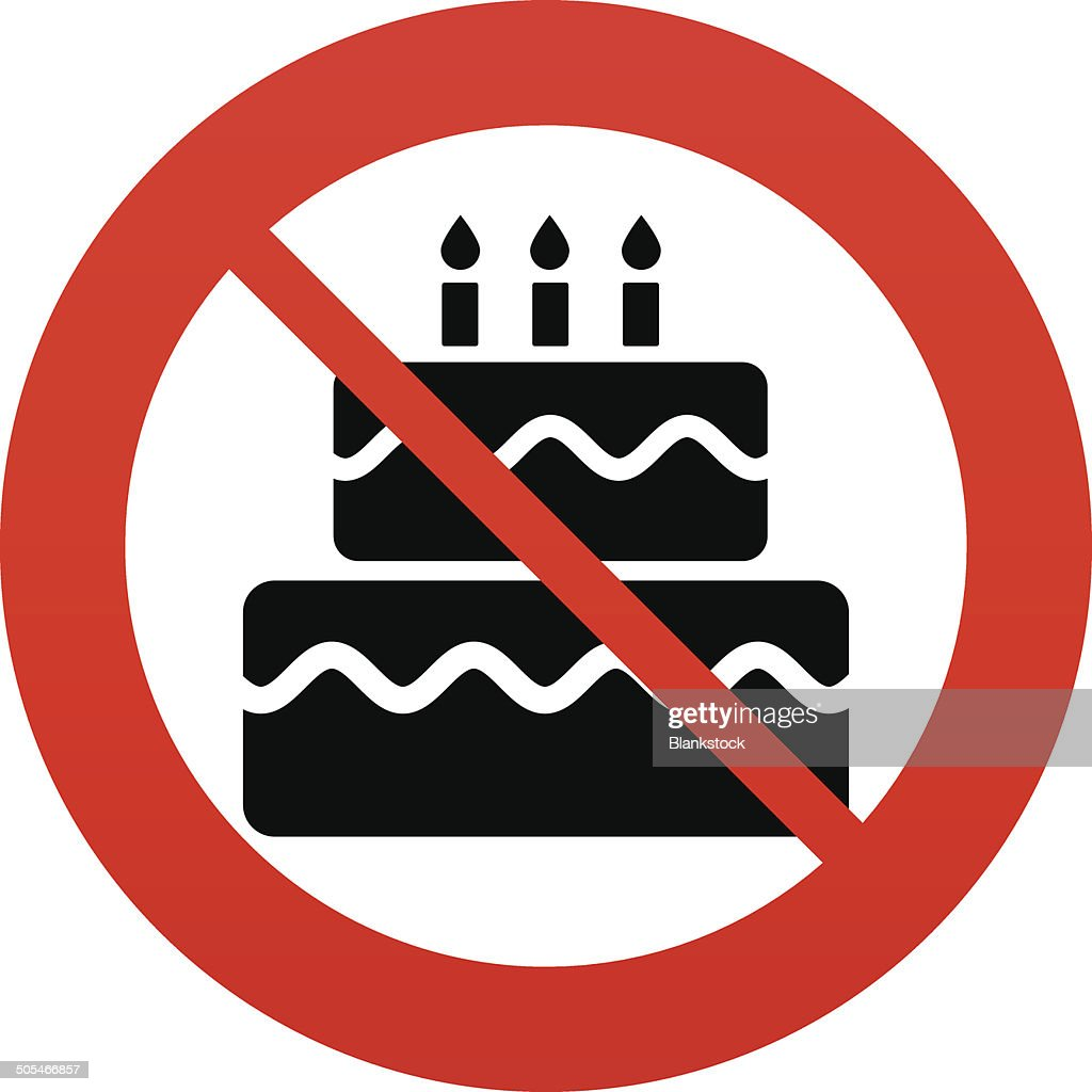 Birthday Cake Sign Icon Burning Candles Symbol Vector Art Getty Images