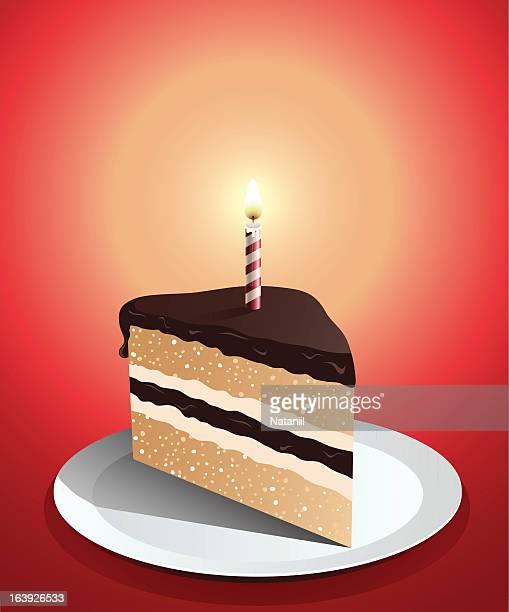 誕生日ケーキ - 1周年点のイラスト素材/クリップアート素材/マンガ素材/アイコン素材