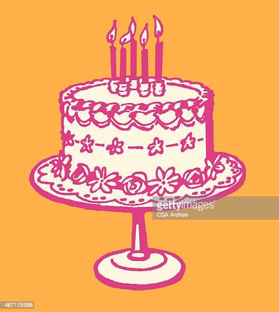 birthday cake - icing stock illustrations, clip art, cartoons, & icons
