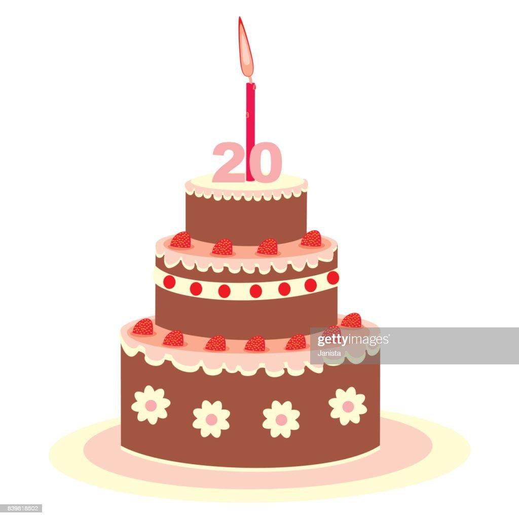 Geburtstagstorte 20